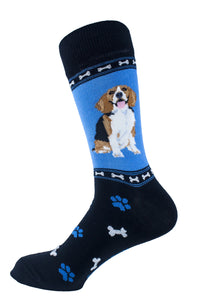 Beagle Dog Socks Mens Signature