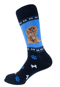 Cavalier King Charles Brown Dog Socks Mens Signature