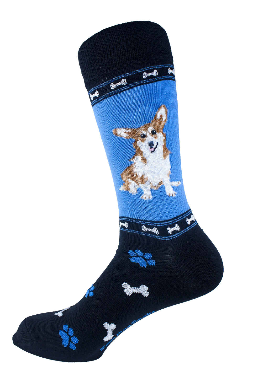 Corgi Brown Dog Socks Mens Signature