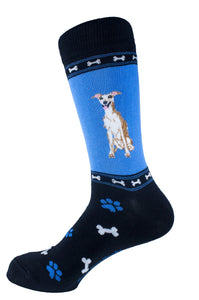 Greyhound Brown Dog Socks Mens Signature