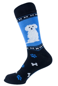 Maltese Dog Socks Mens Signature