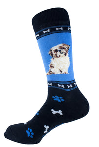 Shih Tzu Brown Dog Socks Mens Signature