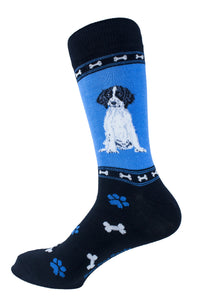 Springer Spaniel Black Dog Socks Mens Signature