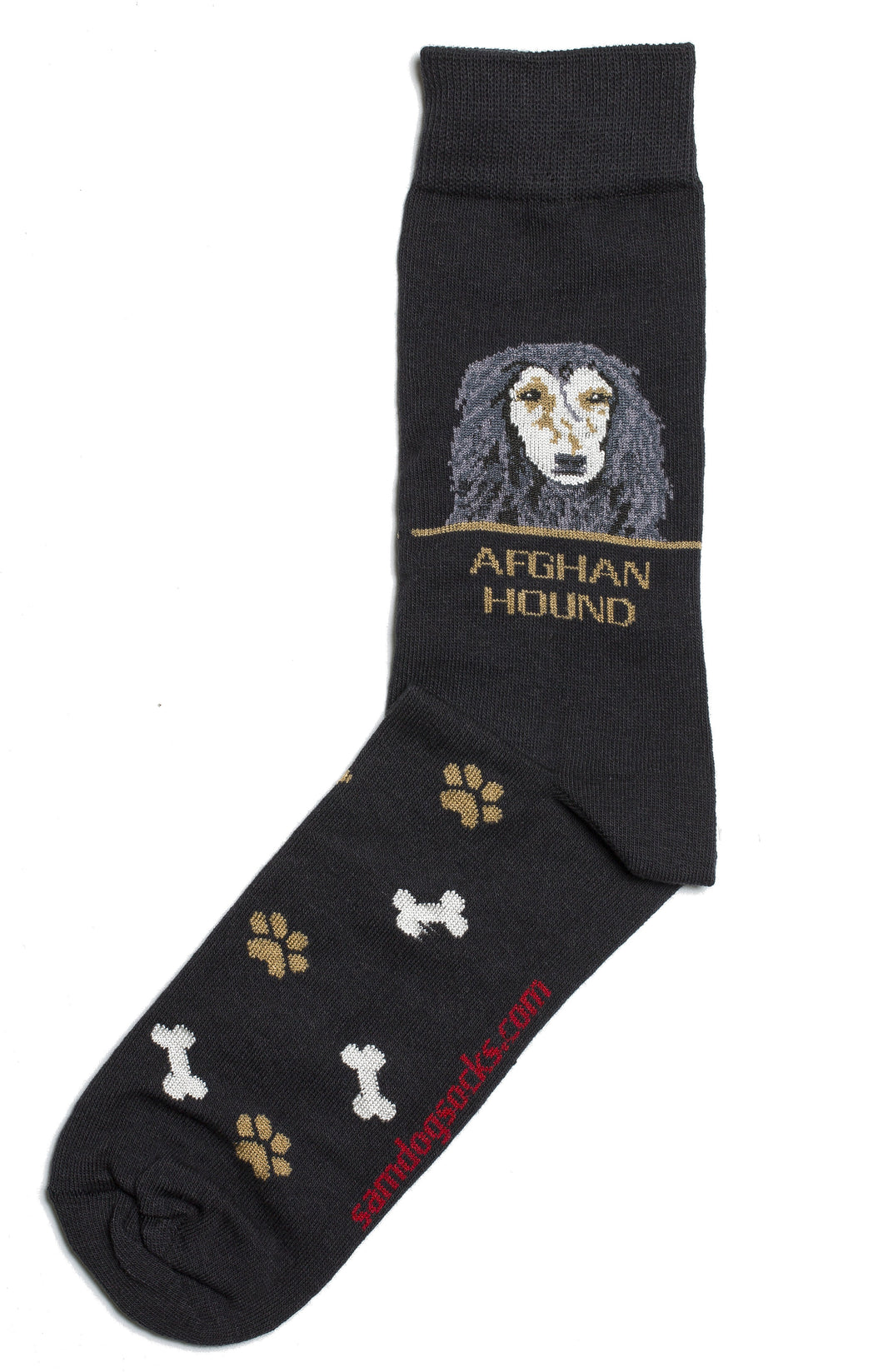 Afghan Hound Dog Socks Mens - samnoveltysocks.com