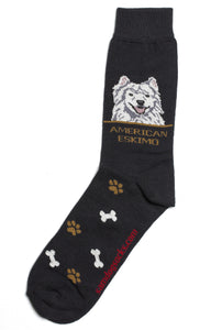 American Eskimo Dog Socks Mens - samnoveltysocks.com