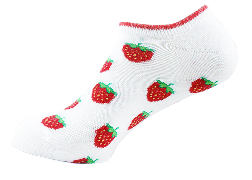 Ankle Women Socks Strawberry - samnoveltysocks.com