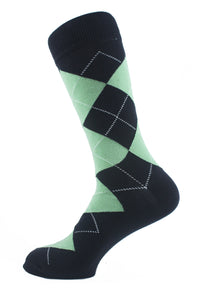 Argyle Men Socks Green - samnoveltysocks.com