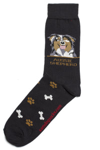 Australian Shepherd Dog Socks Mens - samnoveltysocks.com