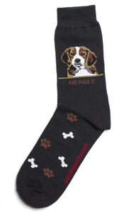 Beagle Dog Socks Mens - samnoveltysocks.com