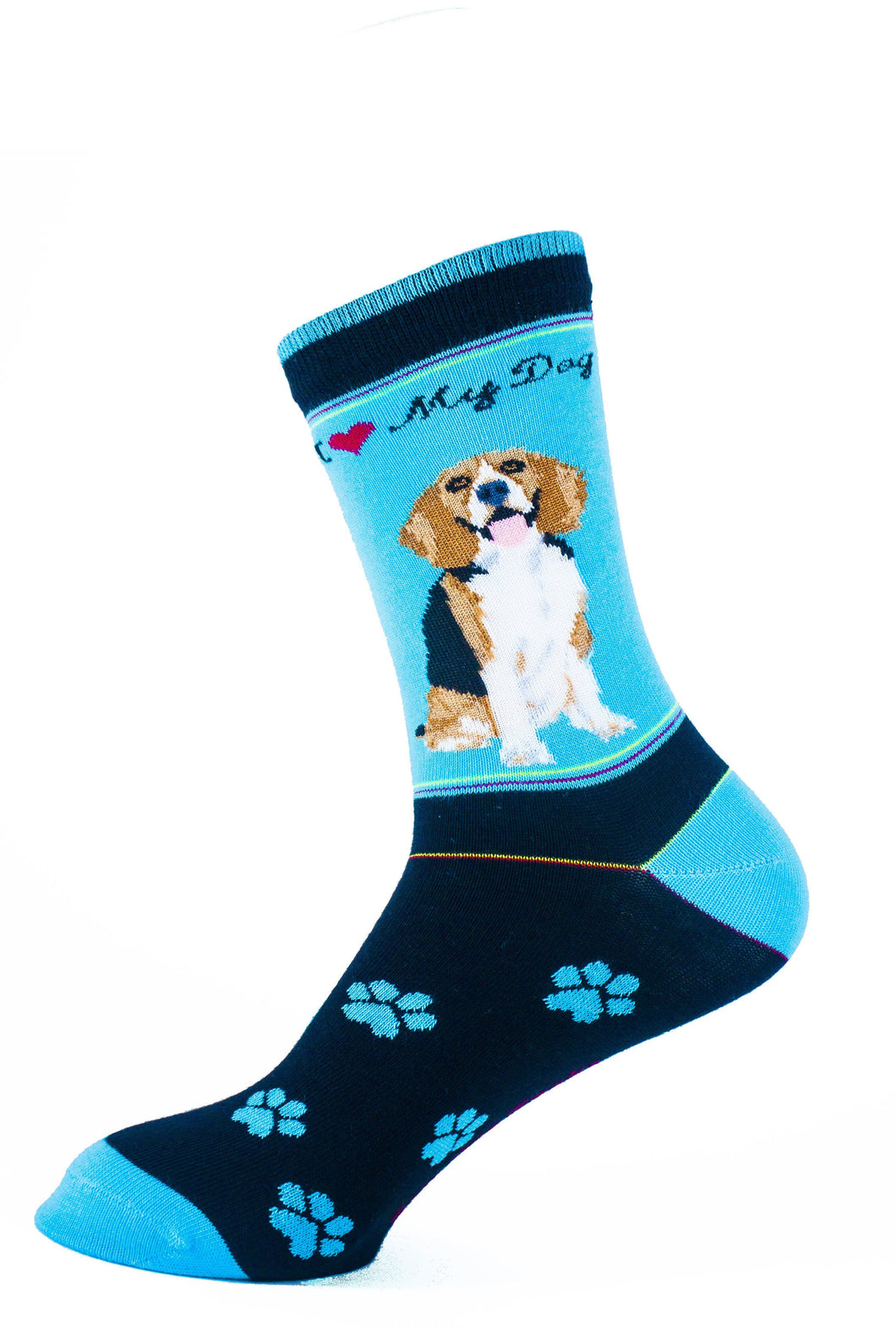 Beagle Dog Socks Signature - samnoveltysocks.com