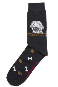 Bedlington Terrier Dog Socks Mens - samnoveltysocks.com