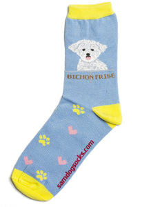 Bichon Frise Dog Socks - samnoveltysocks.com