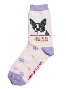 Boston Terrier Dog Socks - samnoveltysocks.com