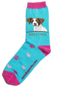 Brittany Dog Socks - samnoveltysocks.com