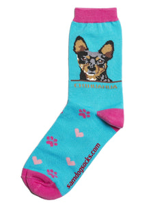 Chihuahua Black Dog Socks - samnoveltysocks.com