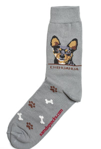 Chihuahua Black Dog Socks Mens - samnoveltysocks.com