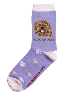 Cockapoo Dog Socks - samnoveltysocks.com