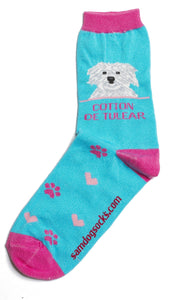 Coton De Tulear Dog Socks - samnoveltysocks.com