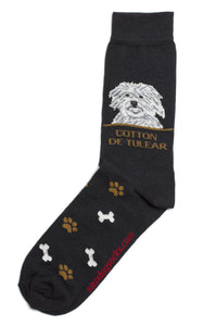 Coton De Tulear Dog Socks Mens - samnoveltysocks.com