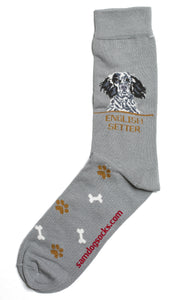 English Setter Dog Socks Mens - samnoveltysocks.com