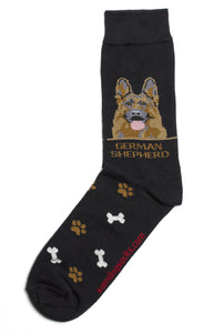 German Shepherd Dog Socks Mens - samnoveltysocks.com