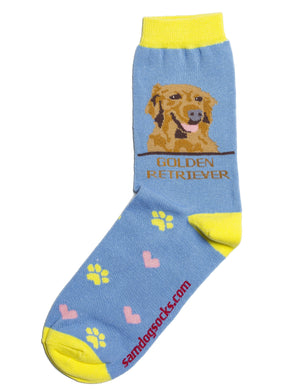 Golden Retriever Dog Socks - samnoveltysocks.com