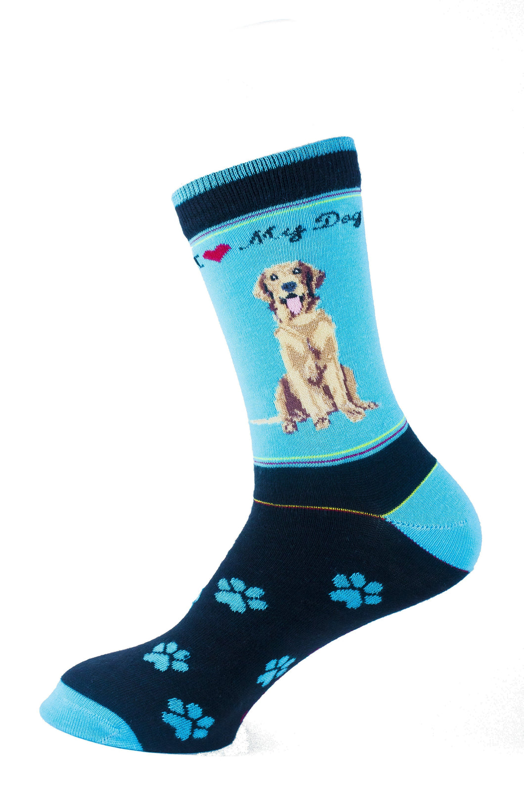 Golden Retriever Dog Socks Signature - samnoveltysocks.com