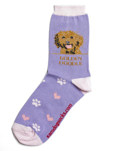 Goldendoodle Dog Socks - samnoveltysocks.com