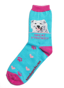 Great Pyrenees Dog Socks - samnoveltysocks.com