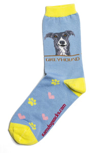 Greyhound Dog Socks - samnoveltysocks.com
