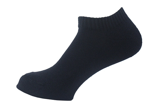 Half Terry Cushioned Socks Women Black - samnoveltysocks.com