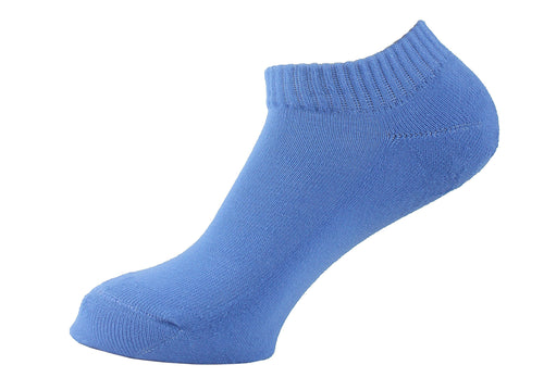 Half Terry Cushioned Socks Women Blue - samnoveltysocks.com