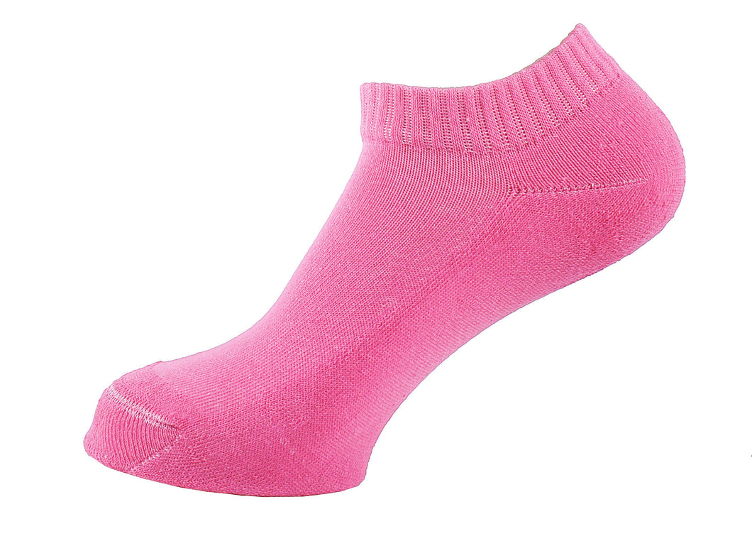 Half Terry Cushioned Socks Women Pink - samnoveltysocks.com