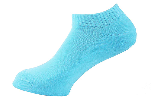Half Terry Cushioned Socks Women Turquoise - samnoveltysocks.com