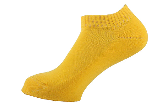Half Terry Cushioned Socks Women Yellow - samnoveltysocks.com