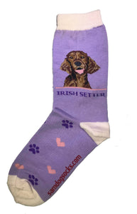 Irish Setter Dog Socks - samnoveltysocks.com