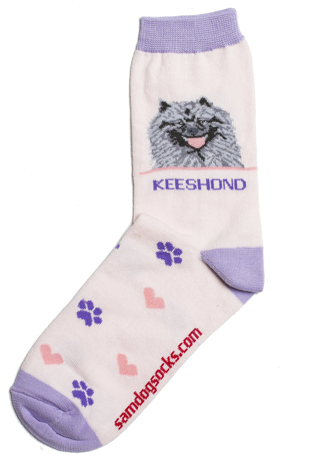 Keeshond Dog Socks - samnoveltysocks.com