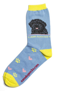 Labradoodle Black Dog Socks - samnoveltysocks.com