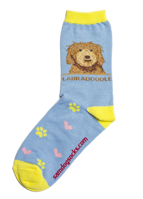 Labradoodle Brown Dog Socks - samnoveltysocks.com