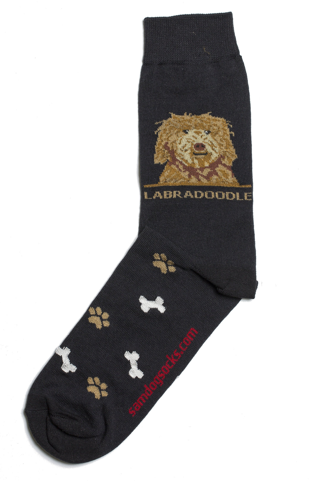 Labradoodle Brown Dog Socks Mens - samnoveltysocks.com