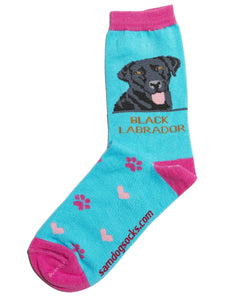 Labrador Black Socks - samnoveltysocks.com