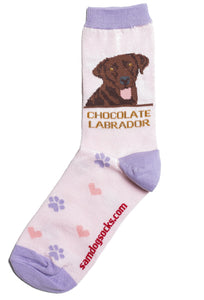 Labrador Chocolate Socks - samnoveltysocks.com