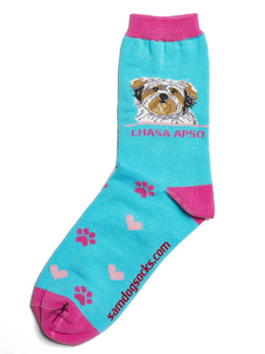Lhasa Apso Dog Socks - samnoveltysocks.com
