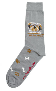Lhasa Apso Dog Socks Mens - samnoveltysocks.com