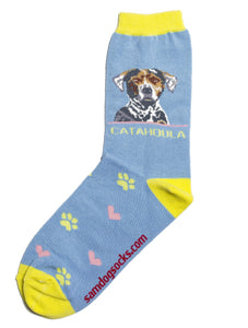 Louisiana Catahoula Leopard dog Dog Socks - samnoveltysocks.com