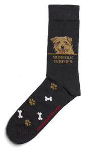 Norfolk Terrier Dog Socks Mens - samnoveltysocks.com