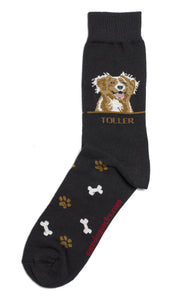 Nova Scotia Duck Tolling Retriever Dog Socks Mens AKA Toller - samnoveltysocks.com