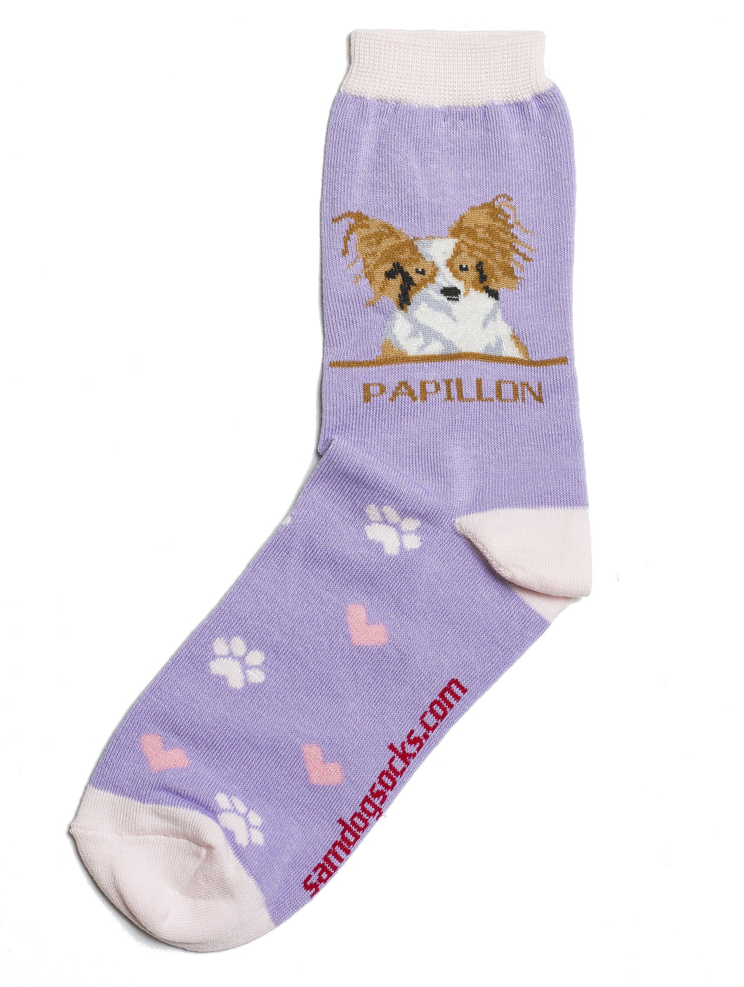 Papillon Brown Dog Socks - samnoveltysocks.com