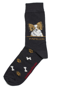 Papillon Brown Dog Socks Mens - samnoveltysocks.com