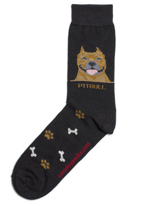 Pit Bull Terrier Brindle Dog Socks Mens - samnoveltysocks.com